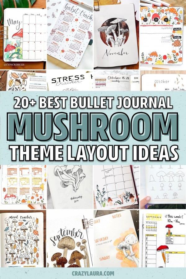 easy mushroom bujo layout ideas