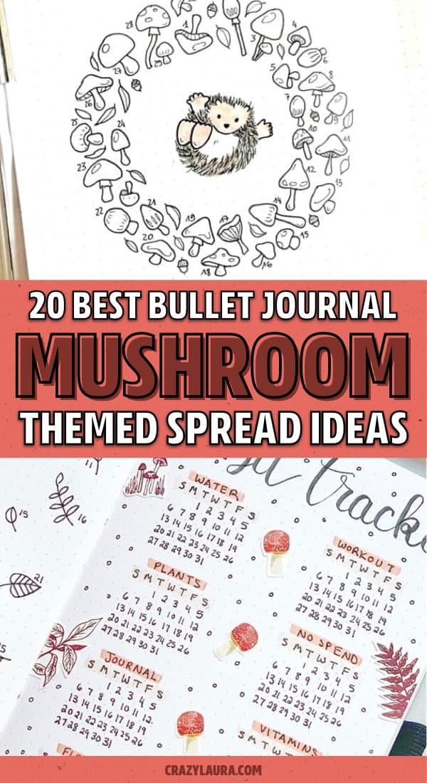 list of mushroom theme bujo examples