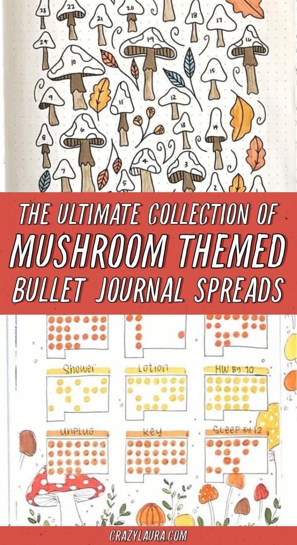 list of bujo mushroom layouts