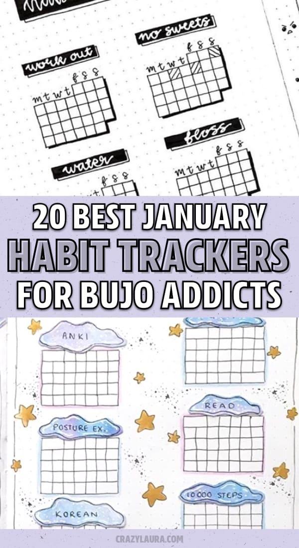 bujo habit spread inspiration