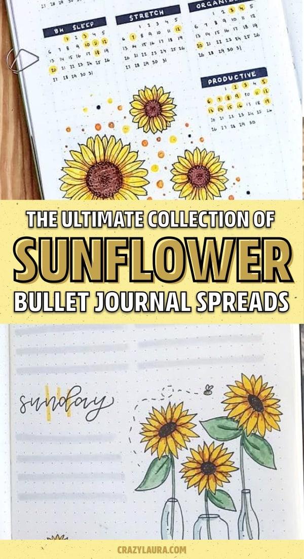 sunflower ideas for bullet journal