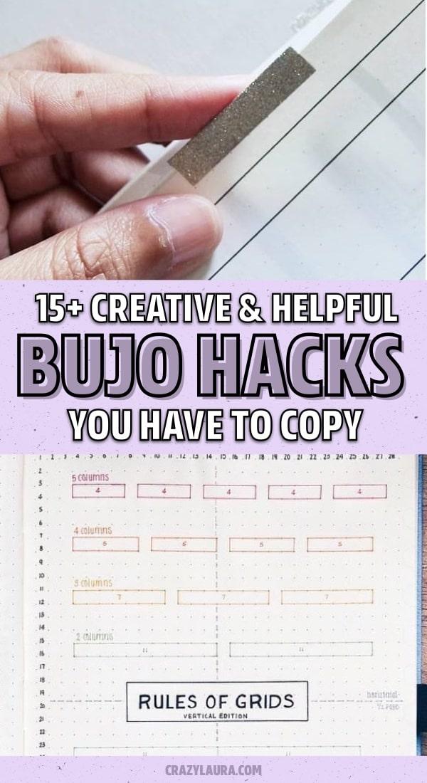 easy hacks for bujo