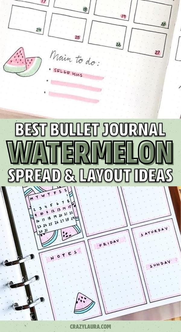 watermelon ideas for bullet journal