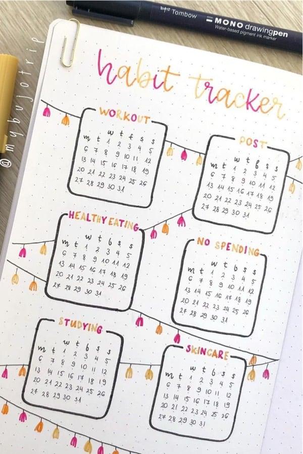 best bullet journal ideas for january