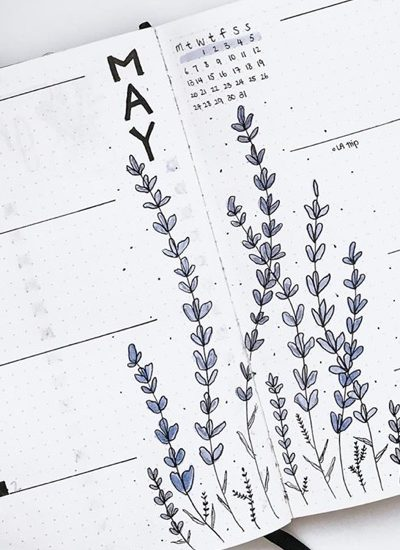 list of lavender themed bujo examples