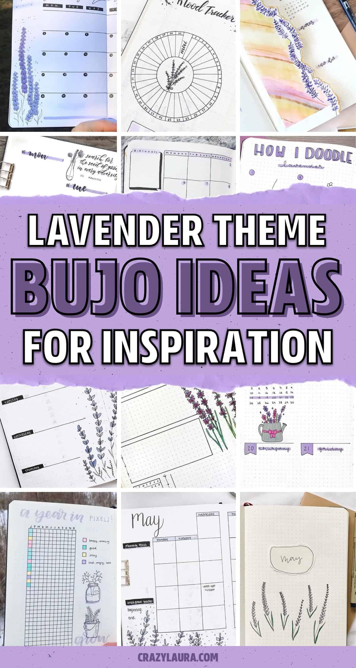 lavender decoration for bujo spreads