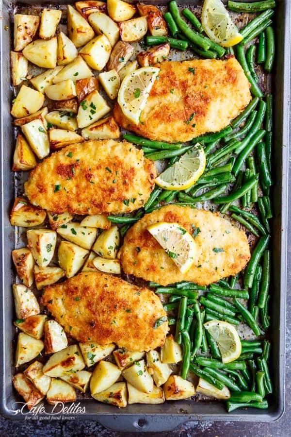 baked chicken and veggie sheet pan recipe