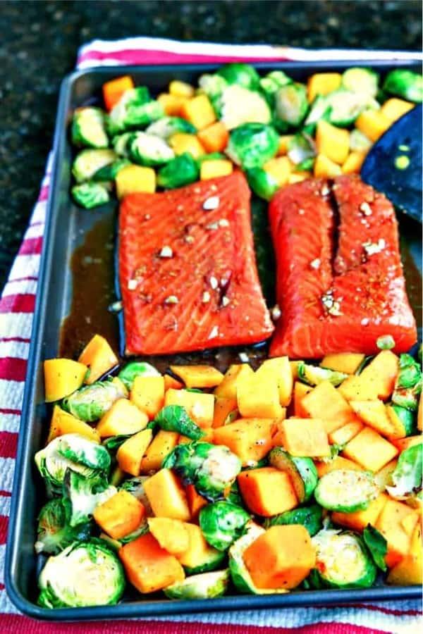 salmon oven pan dinner