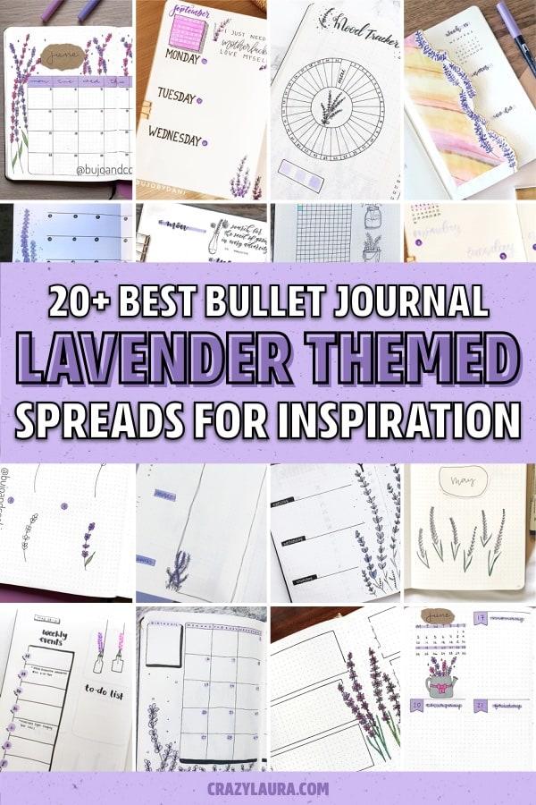 best lavender themed bujo layouts