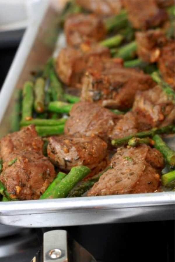 sheet pan steak recipe example