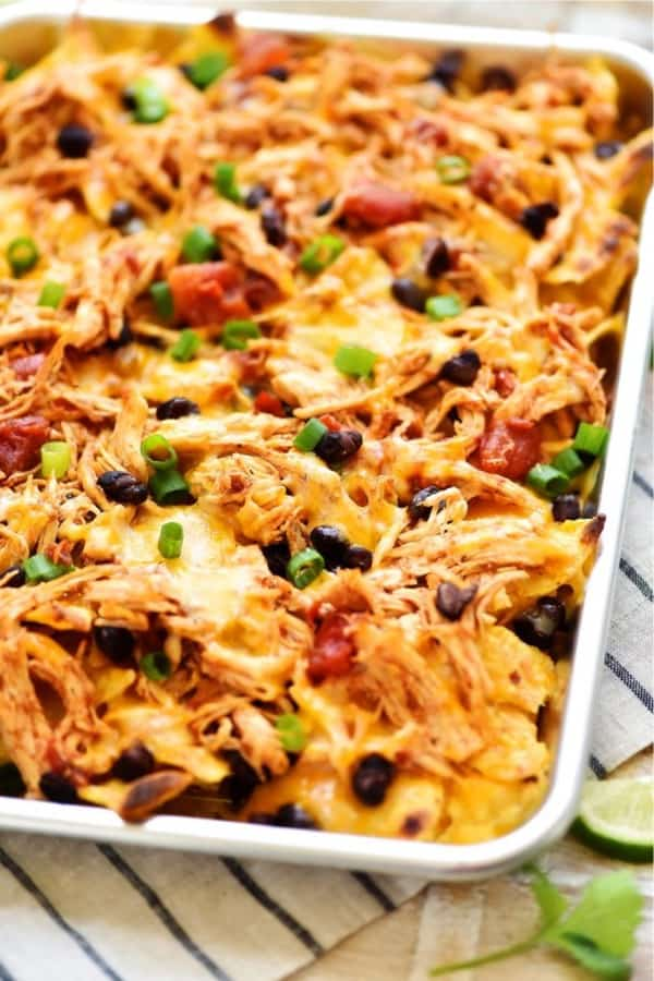 quick nacho recipe on sheet pan