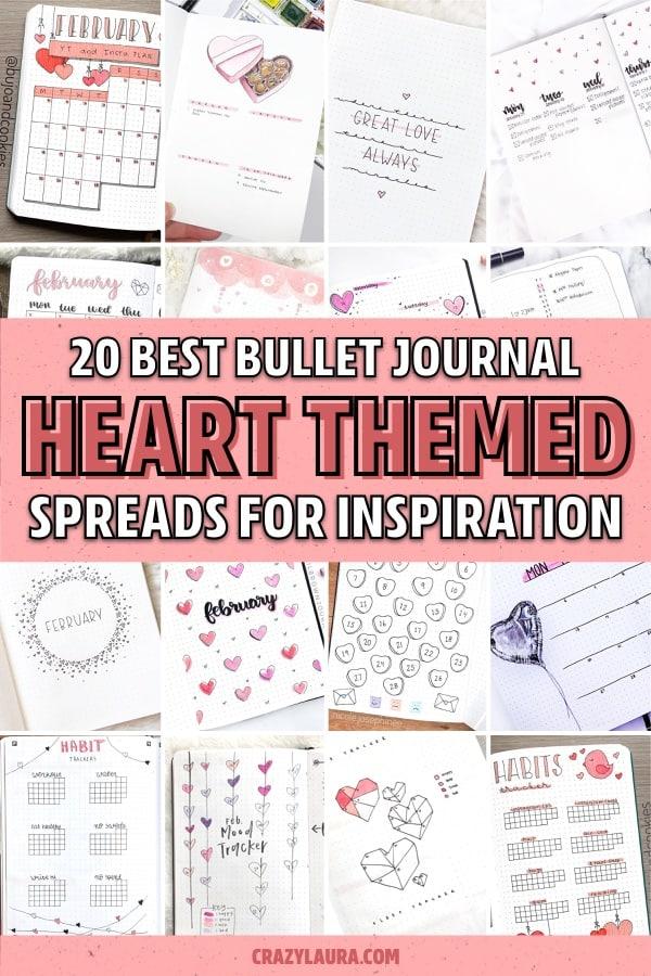 heart doodle bujo spreads