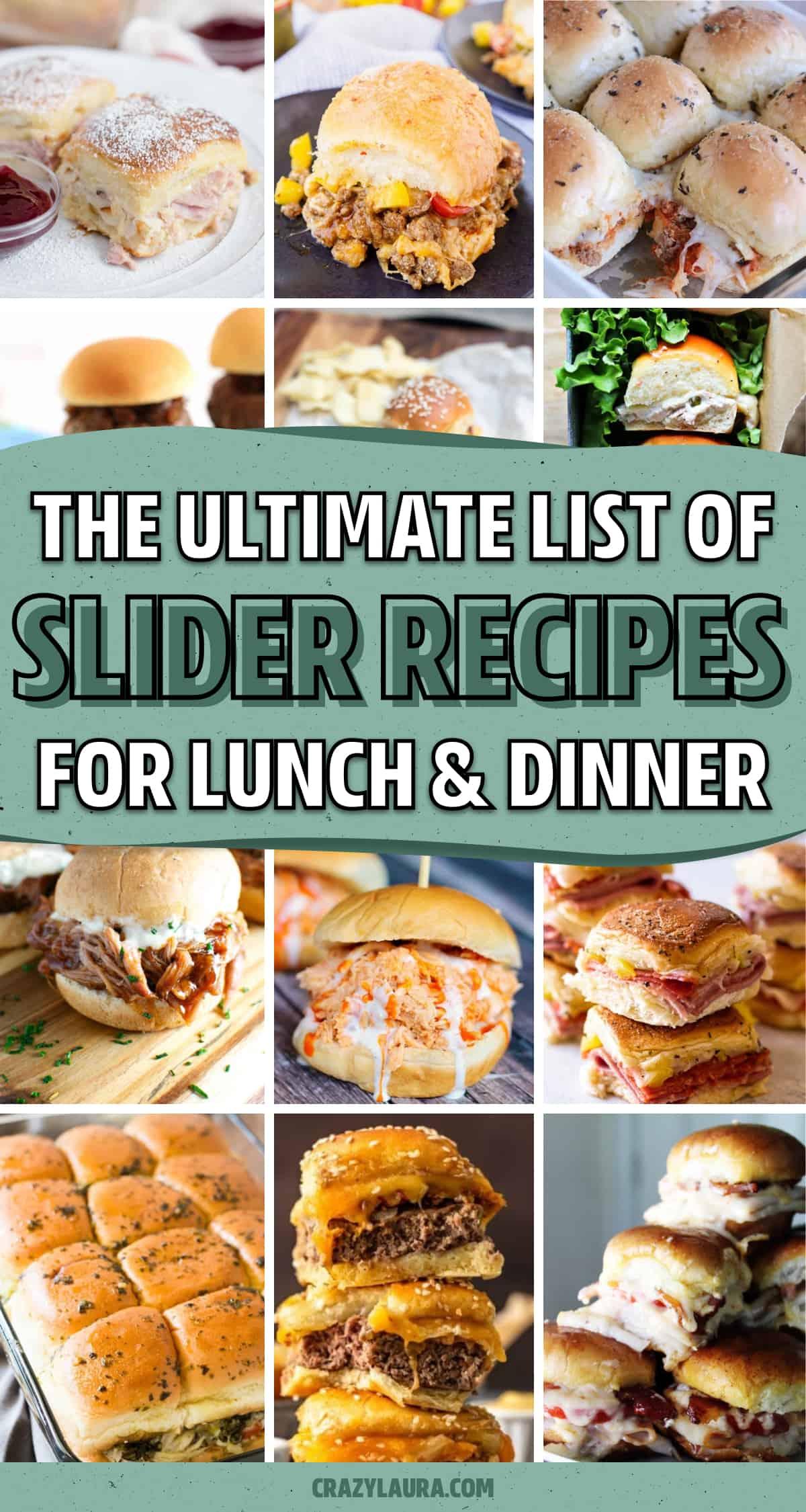 collection of easy slider recipe tutorials