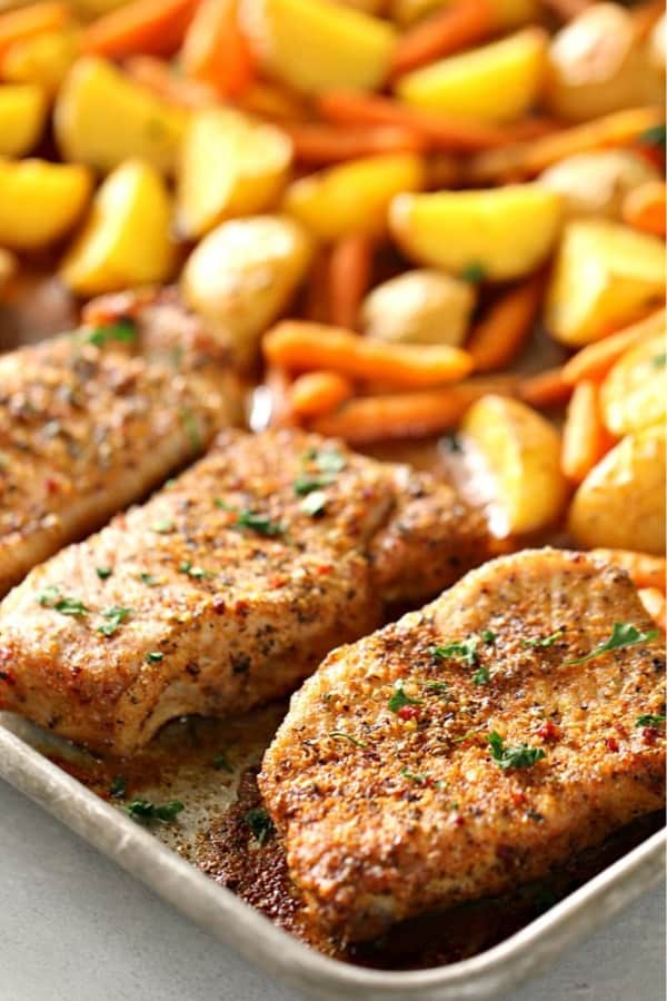 pork chop recipe for sheet pan meal