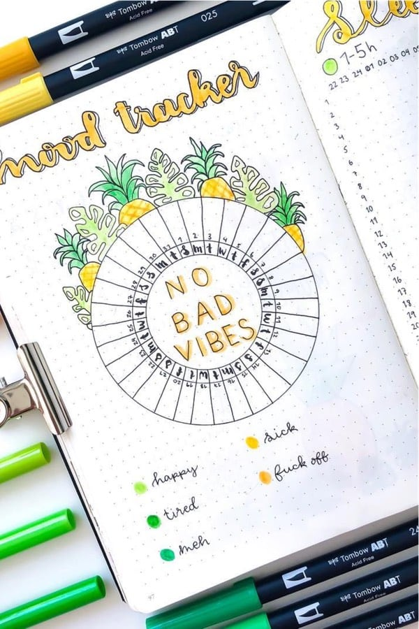 yellow circle feelings tracker