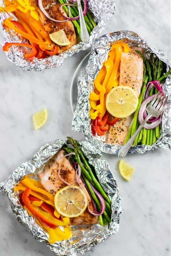 tin foil salmon recipe idea