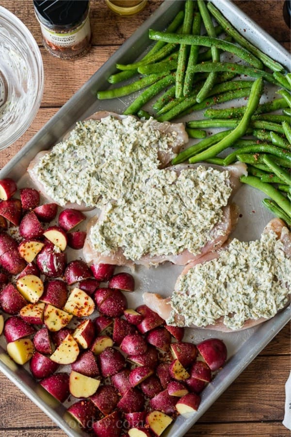 easy chicken meal for sheet pan