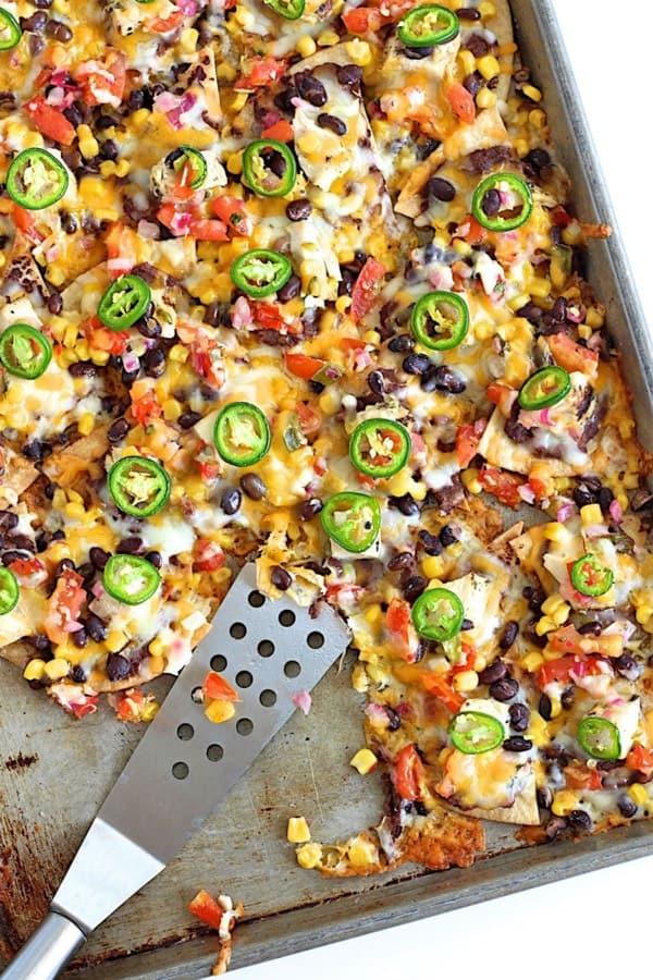 chicken and bean nacho oven recipe
