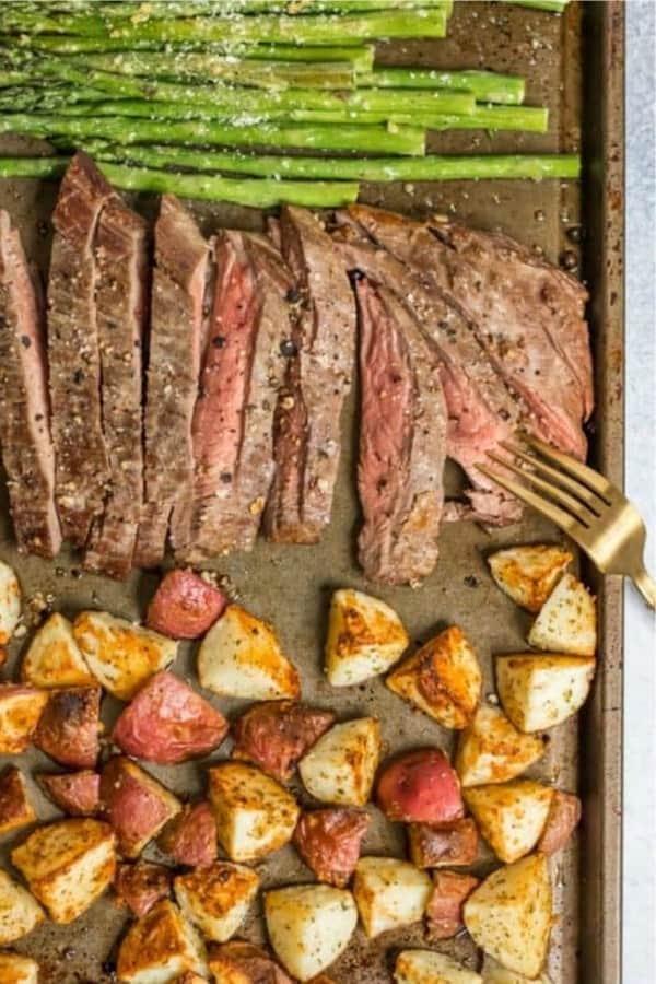 easy steak dinner sheet pan recipe