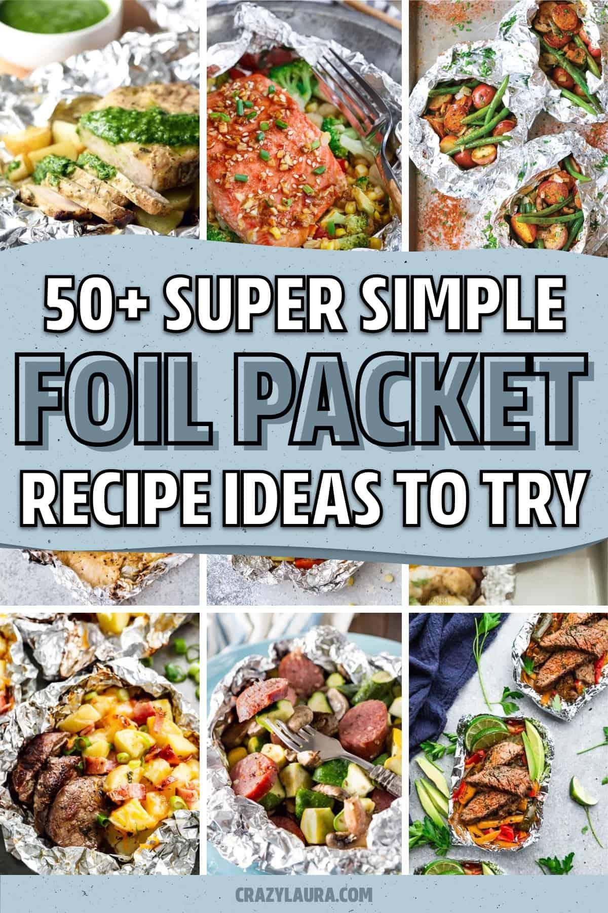 dinner recipe ideas with tin foil