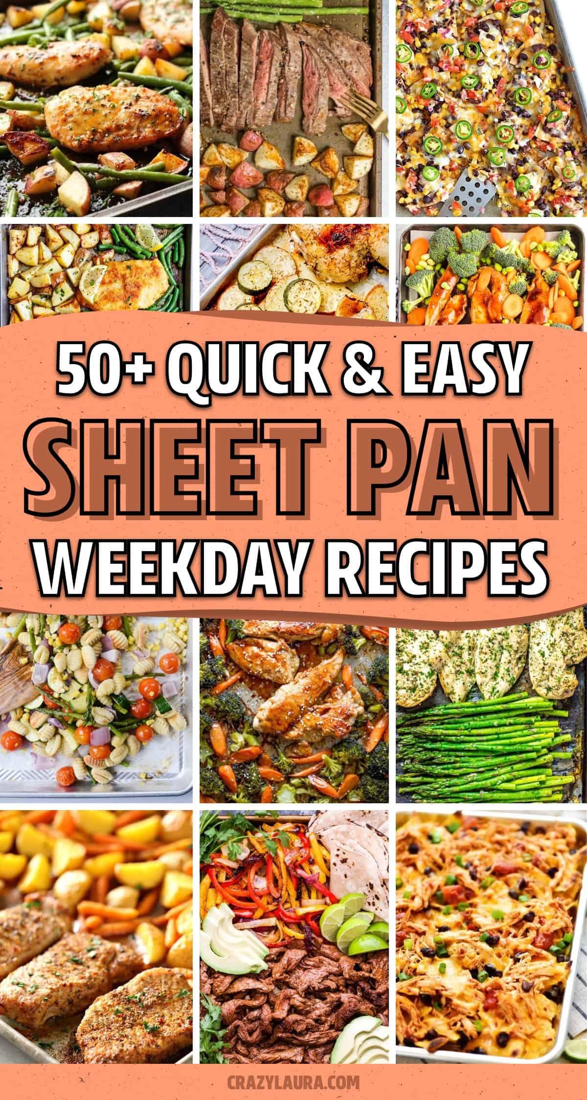 fast to make single pan weeknight recipes