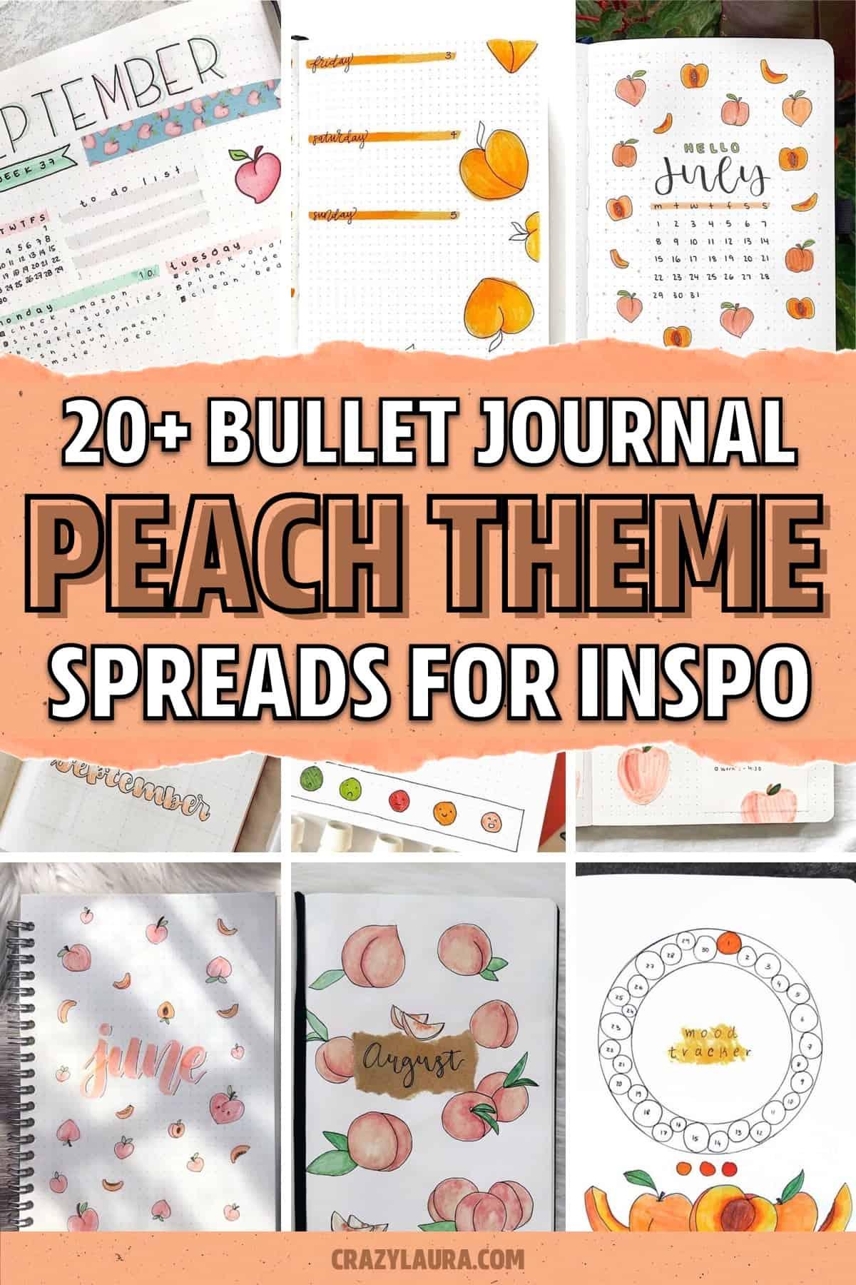 bujo theme ideas with peach