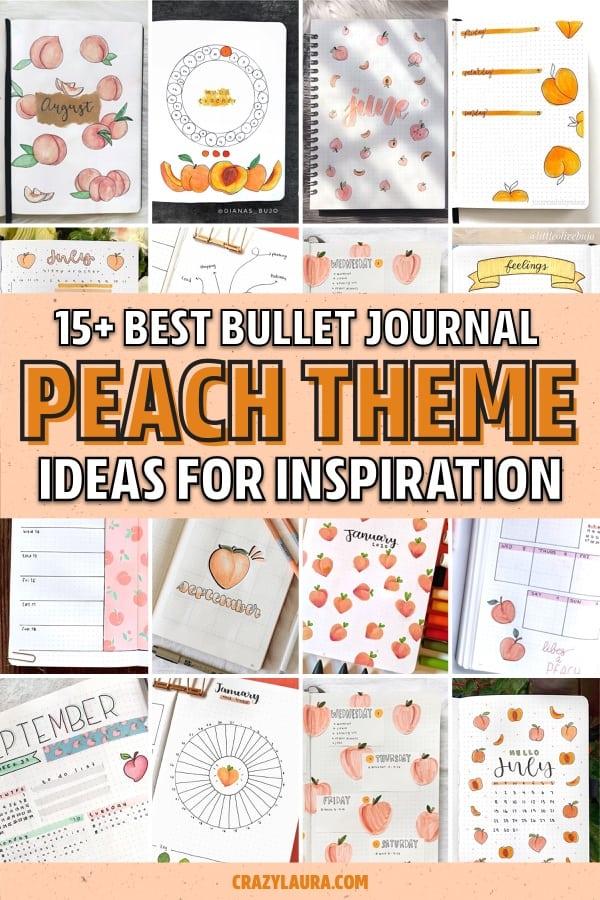 bullet journal ideas with peach theme