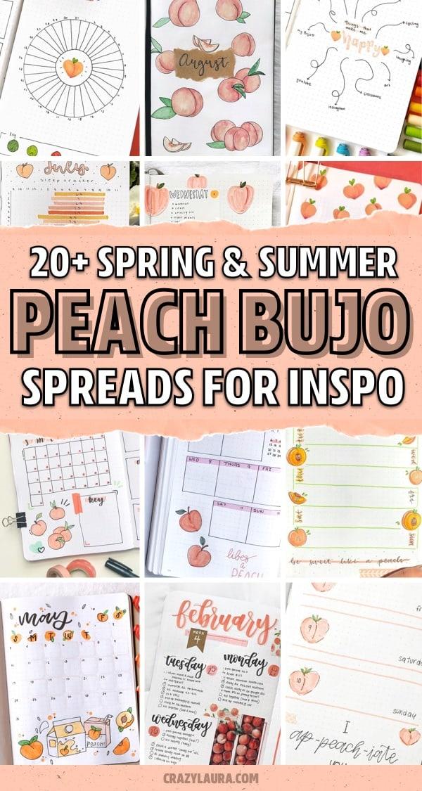 peach bujo inspiration