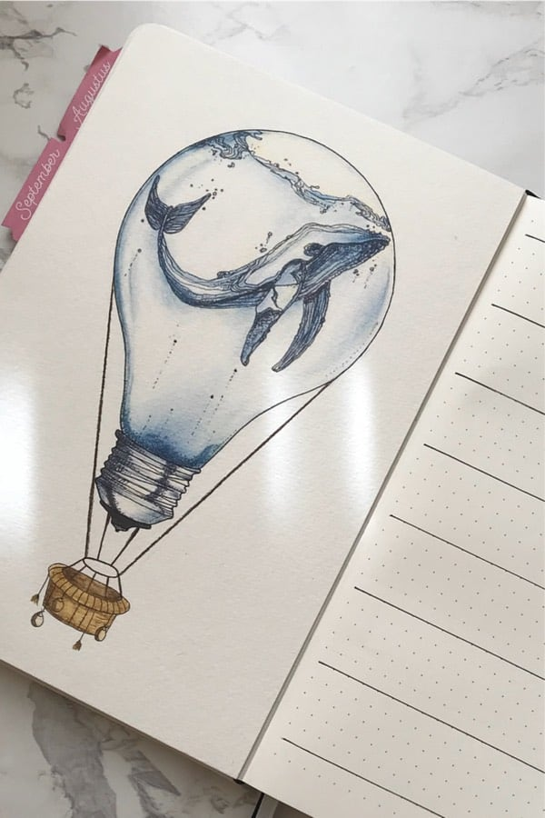 best cover spread with light bulb decoration