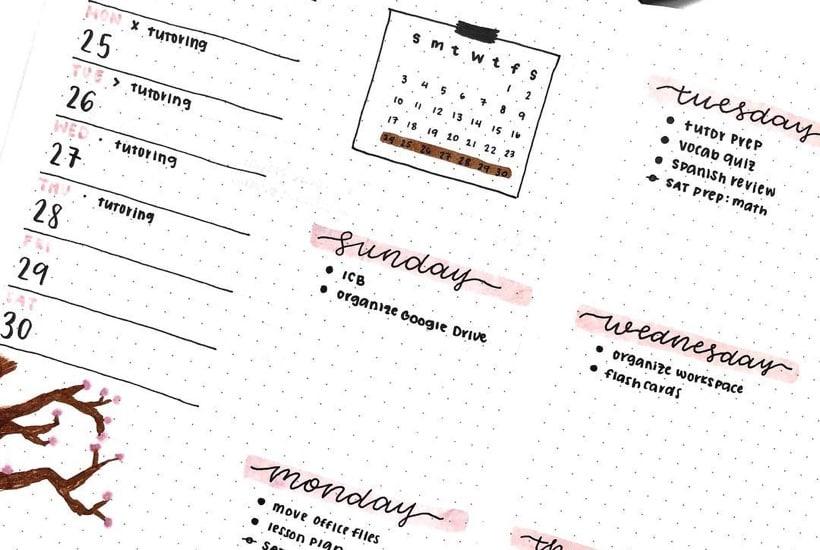 Best Cherry Blossom Bullet Journal Spreads For 2021