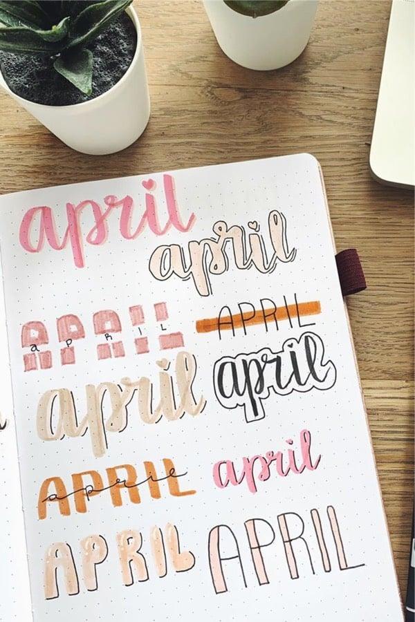 header ideas for april