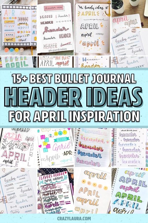 header inspiration for spring bujo theme