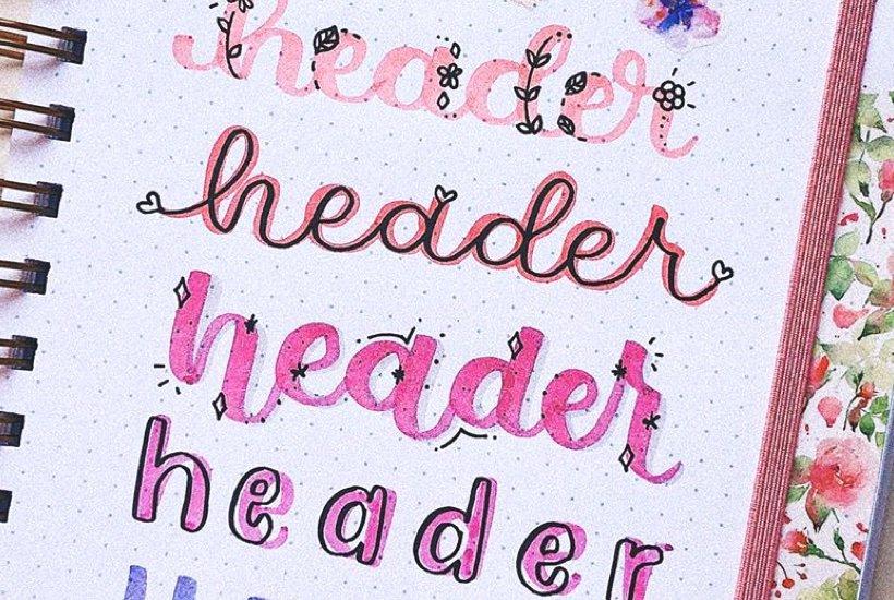 20+ Best Pink Bullet Journal Headers For Inspiration In 2020