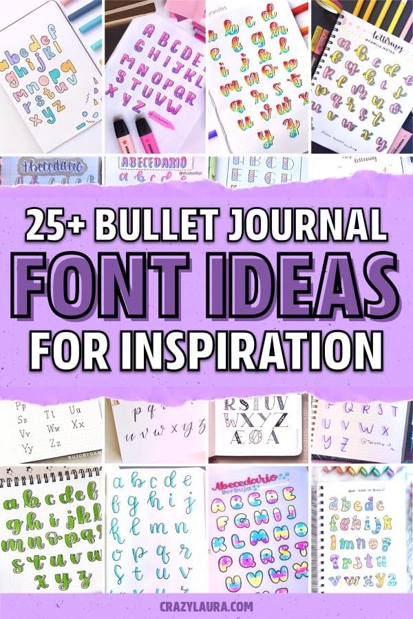 journal lettering for inspiration