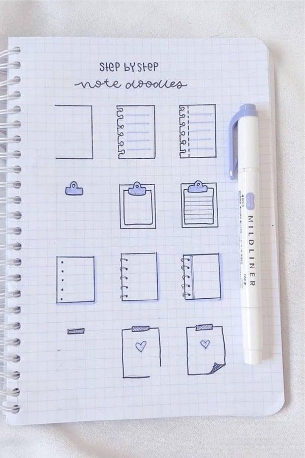 best bullet journal paper doodle