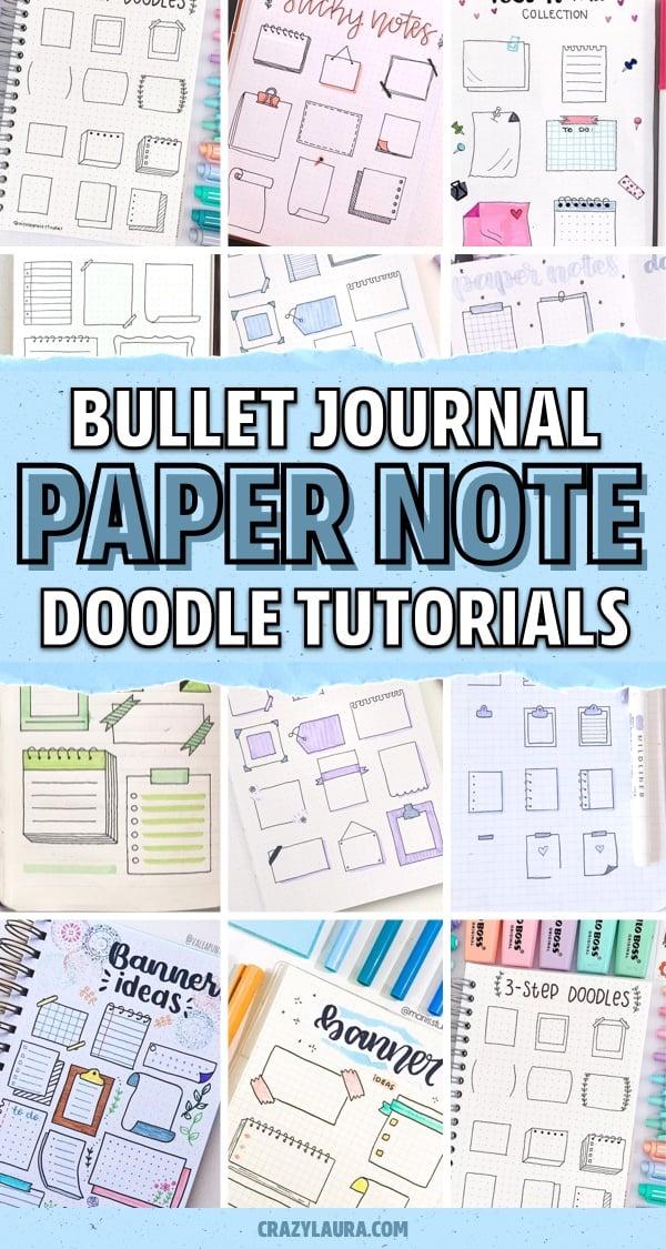 bullet journal paper note doodle inspiration