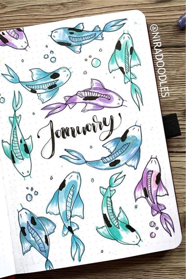 best koi themed journal ideas