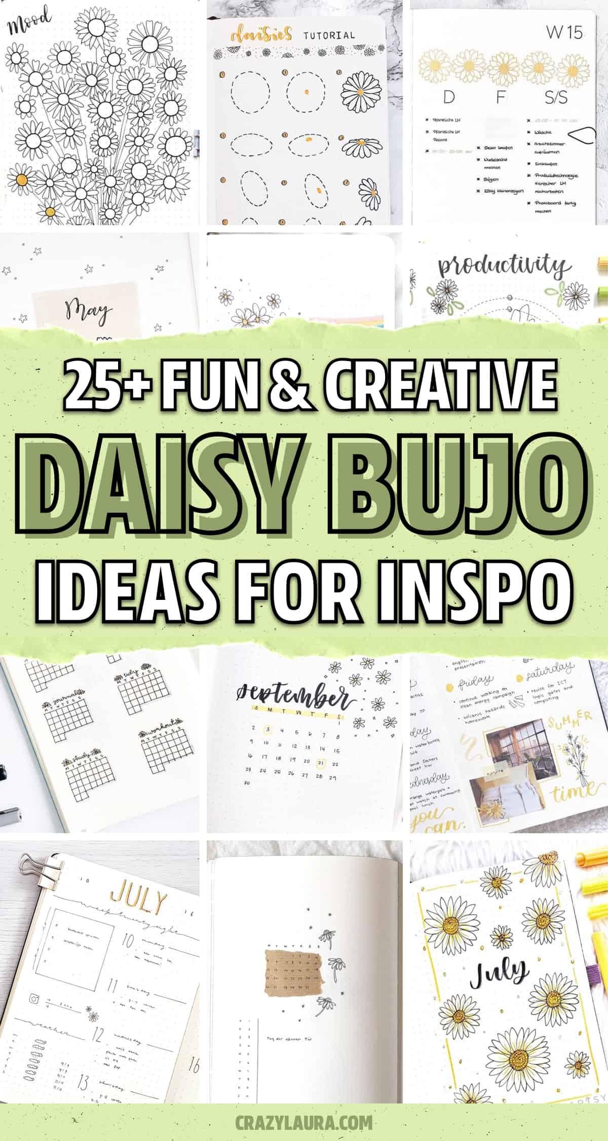 creative daisy bullet journal examples