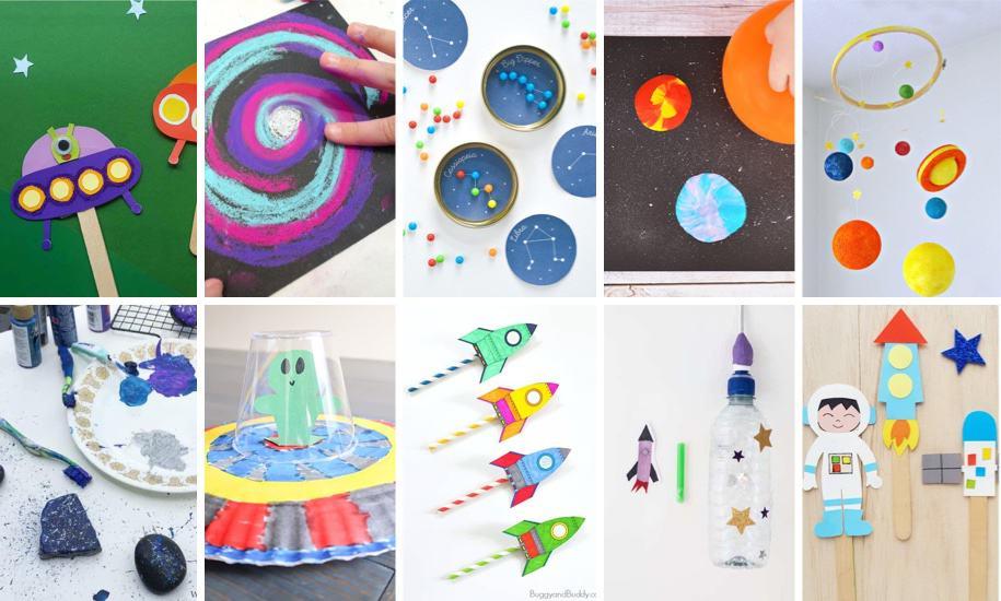 30+ Super Fun Space Crafts For Kids In 2020