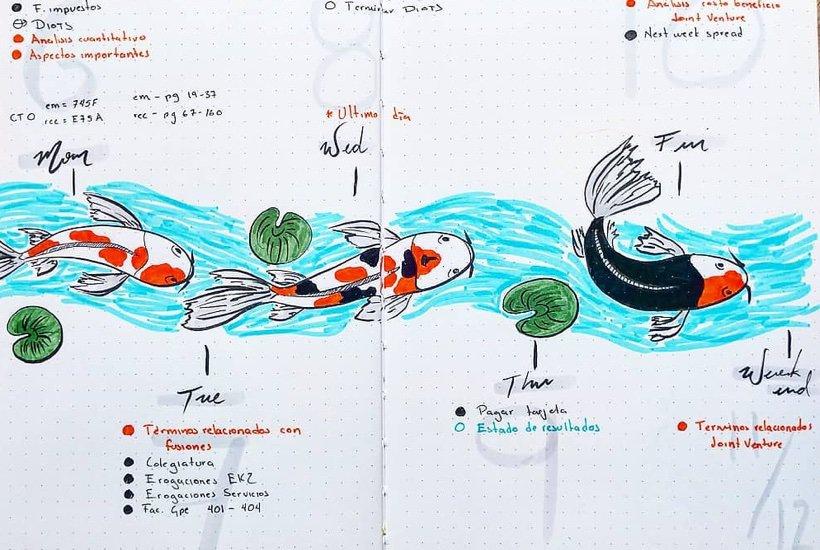 15+ Best Koi Fish Bullet Journal Spread Ideas For 2020
