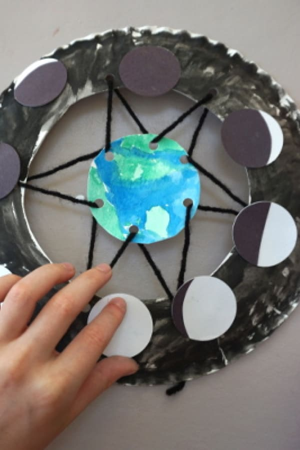 phases of the moon craft for young kids