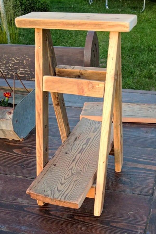 mini plant ladder diy tutorial