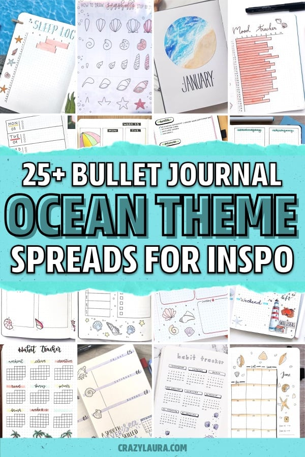 creative beach bullet journal layouts