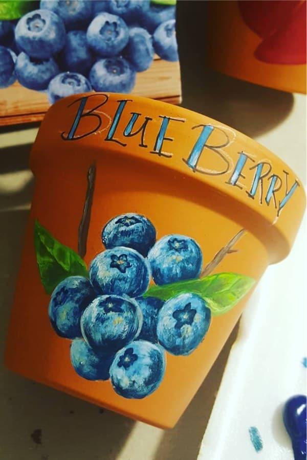 simple clay pot paint ideas