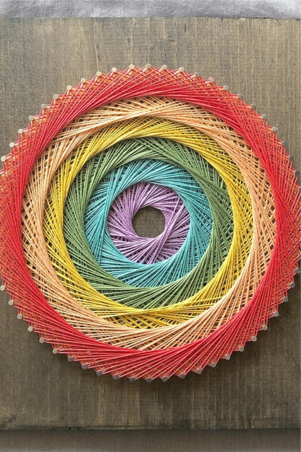 easy pattern examples for string art