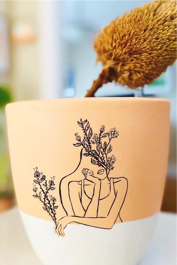 simple flower pot decoration