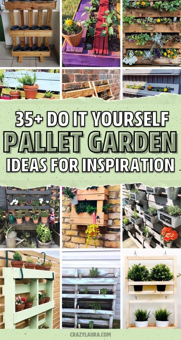 best pallet wood vertical garden examples