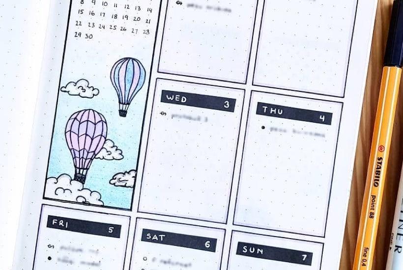 25+ Best Hot Air Balloon Bullet Journal Spreads For 2021