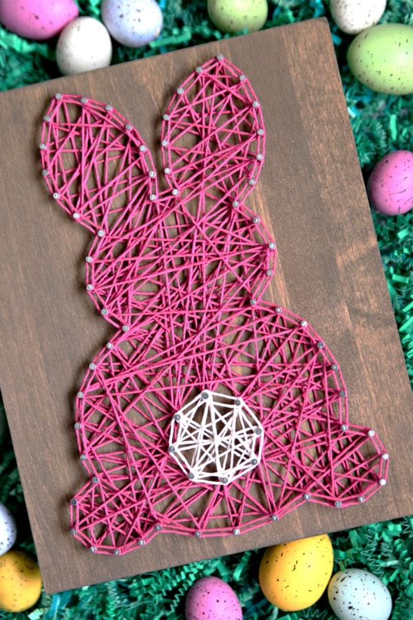 string craft project for easter