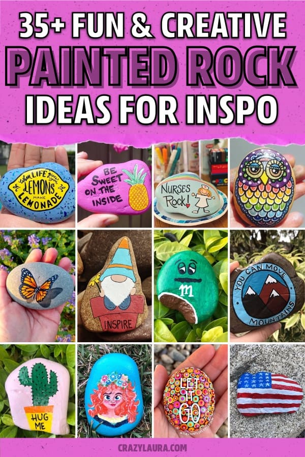 painted pebble examples for inspiration